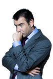 Portrait of a pensive worried businessman Royalty Free Stock Images