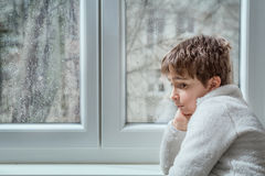 Portrait of a pensive young man Stock Images
