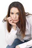 Portrait of pensive young woman Royalty Free Stock Photos