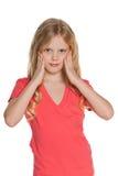 Portrait of a pensivel scandinavian girl Stock Photo