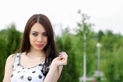 Portrait of a perfect young woman Royalty Free Stock Photos