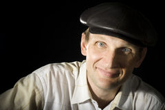 Portrait of the person in a cap Royalty Free Stock Photo