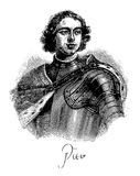 Portrait of Peter the Great, Tsar of Russian Empire in XVIII cen Stock Images