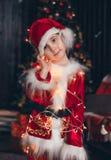 Portrait petite Santa photographie stock