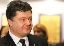 Portrait of Petr Poroshenko Royalty Free Stock Images