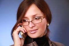 Portrait with phone Stock Photo
