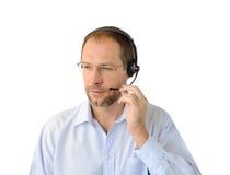 Portrait of phone operator Stock Photos