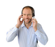 Portrait of phone operator Royalty Free Stock Photo