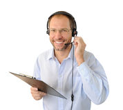 Portrait of phone operator Royalty Free Stock Images