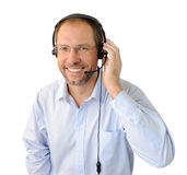 Portrait of phone operator Stock Images