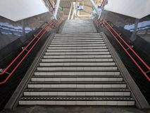 Stairs to the train station in Hoofdorp, Netherlands Stock Images