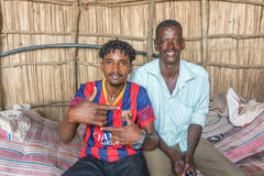 Portrait photograph of the two Sudanese man. Stock Photo