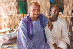 Portrait photograph of the two Sudanese man. Royalty Free Stock Image