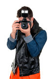 Portrait of photographer Stock Photo