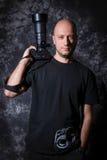 Portrait of a photographer Stock Image