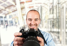 Portrait of photographer Stock Photography