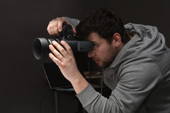 Portrait photographer stock images