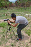 Portrait Photographer at Stonehenge of CHAIYAPHUM Thailand Royalty Free Stock Photography