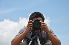 Portrait Photographer at Stonehenge of CHAIYAPHUM Thailand Royalty Free Stock Image