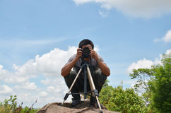 Portrait Photographer at Stonehenge of CHAIYAPHUM Thailand Royalty Free Stock Photos