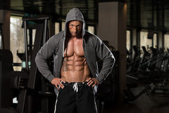 Portrait Of A Physically Fit Man In Hoodie Royalty Free Stock Photo