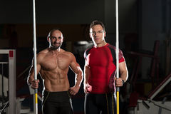 Portrait Of A Physically Fit Men With Javelin Royalty Free Stock Image