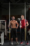Portrait Of A Physically Fit Men With Javelin Royalty Free Stock Photography