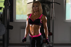 Portrait Of A Physically Fit Middle Age Womane. In Fitness Center Stock Image