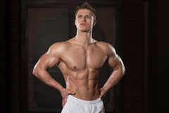 Portrait Of A Physically Fit Muscular Young Man Royalty Free Stock Image