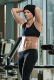 Portrait Of A Physically Fit Muscular Young Woman Stock Photos