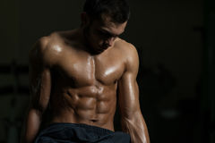 Portrait Of A Physically Fit Young Man Stock Photo