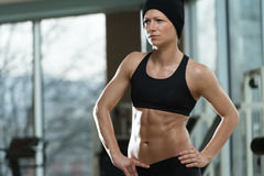 Portrait Of A Physically Fit Young Woman Stock Photography