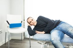 Portrait of a physiotherapist. Concept of health and rehabilitation royalty free stock photos