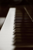 Portrait of a piano keyboard Stock Photography