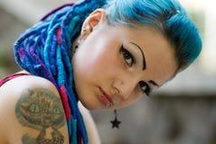 Portrait of pierced teen girl Stock Image