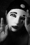 A portrait with Pierrot mask Stock Images