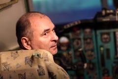 Portrait of pilot Stock Images
