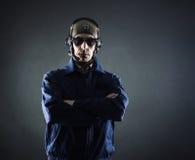 Portrait of a pilot businessman Royalty Free Stock Images