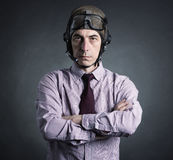 Portrait of a pilot businessman Stock Image