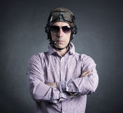 Portrait of a pilot businessman Royalty Free Stock Photography