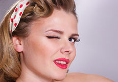 Portrait of pin up girl. Portrait of pretty pin up girl Royalty Free Stock Image