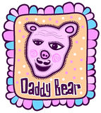Portrait of a pink teddy bear Stock Images