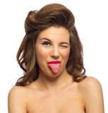 Portrait of pinup girl Royalty Free Stock Photo