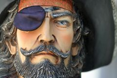Portrait of a Pirate. Close up portrait of a pirate Stock Images