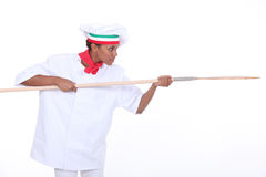 Portrait of a pizza chef Royalty Free Stock Photography
