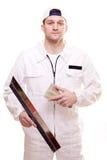 Portrait of a plasterer Stock Photo