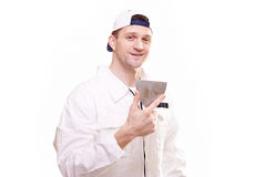 Portrait of a plasterer Stock Photography