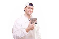 Portrait of a plasterer Stock Photography