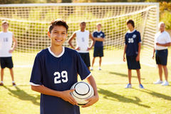 Portrait Of Player In High School Soccer Team