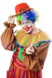 Portrait of a playful clown Stock Images